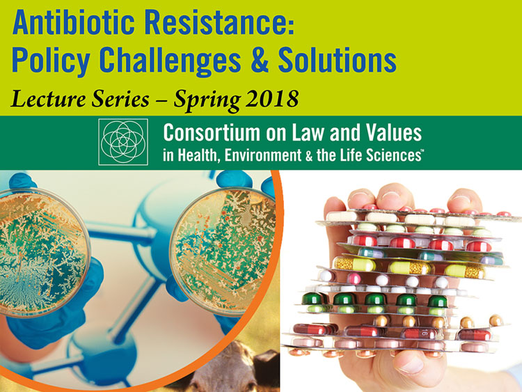 Antibiotic resistance series graphic with hand holding antibiotics and petri dishes